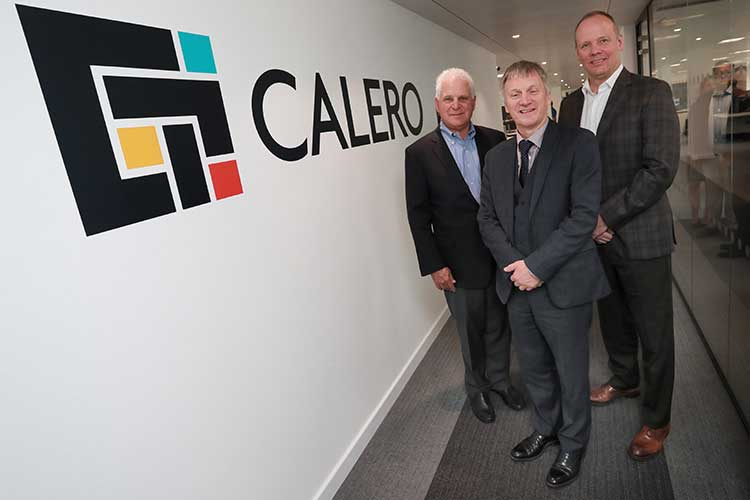 L-R): Steve Kaplan, General Partner, Riverside Partners; Ivan McKee MSP; Joe Pajer, President and CEO, Calero Software