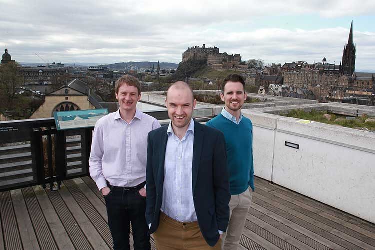 Left to right - Alastair Andrew (co-founder and CTO), Andrew Bone (co-founder and CEO) an Richard Cassidy (CCO)