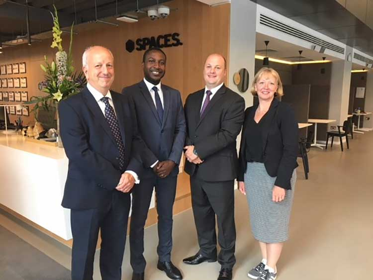 (L-R): David Singleton, Regional Manager, Justin Brown, Service Delivery Manager, Alex Griffiths, Business Development Manager, and Sharon Hamilton, Managing Director