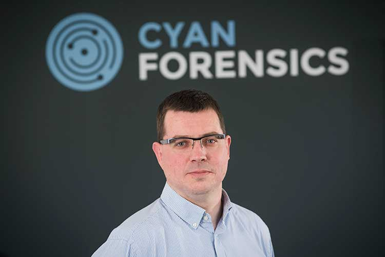 Cyan Forensics' Co-Founder and CEO, Ian Stevenson