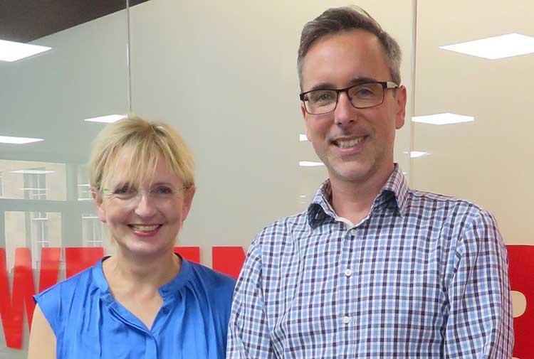 From left - Niki McKenzie and Chris Liversidge