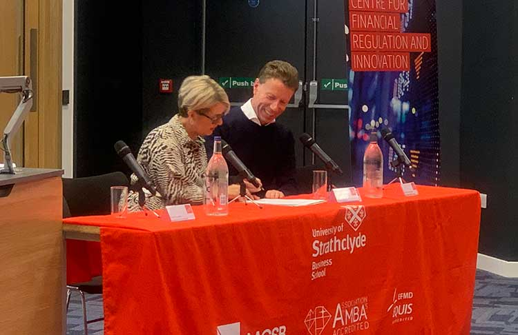 From left - Eleanor Shaw and Stephen Ingledew at the signing